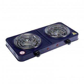 Плитка электрическая homestar hs-1105, 2000 вт, 2 конфорки, цвет сапфир