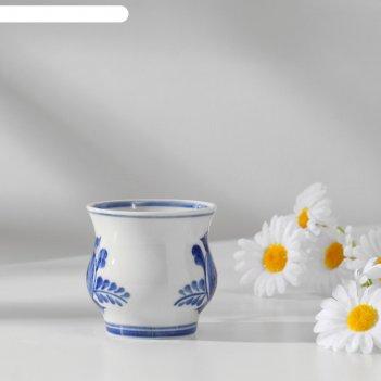 Чашка кофейная авт.федотов, 9х7х7 см, 150мл, 1 сорт, гжель