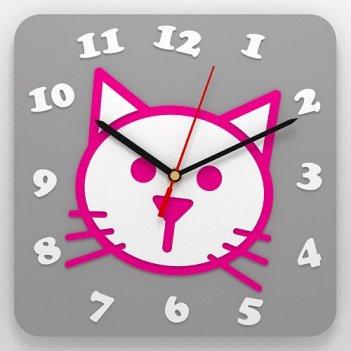 Детские часы кошка