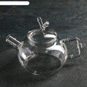 Чайник заварочный 400 мл бамбук, с металлическим ситом