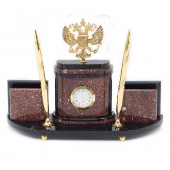 Настольный набор герб бронза креноид