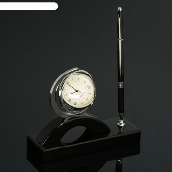 Набор настольный 2в1 (ручка, часы)