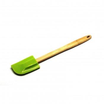 Лопатка для перемешивания atlantis, с деревянной ручкой, салатовая