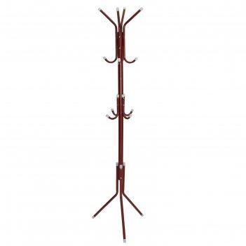 Вешалка-стойка 177 см корона, цвет красный