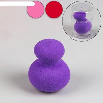Спонж для макияжа матрёшка, увеличивается при намокании, цвета микс