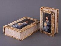 Комплект шкатулок со стразами портрет девушки из...