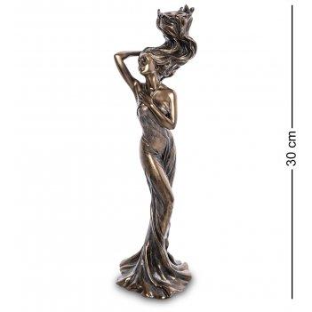 Ws-967 статуэтка-подсвечник девушка с огненными волосами