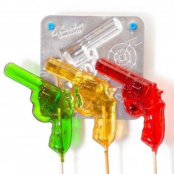 Набор для приготовления леденцов и мармелада пистолет, цвет микс