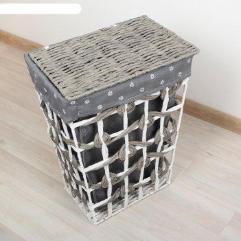 Корзина для белья плетеная прямоугольная 38х30х48 см хильда