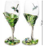 Win-157 набор бокалов в подар.кор. лотос с лягушкой