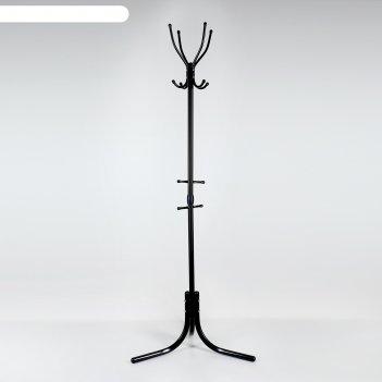 Вешалка напольная комфорт (вк4/ч), цвет чёрный