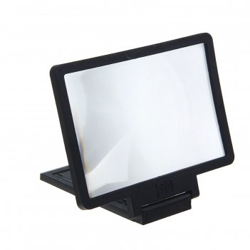 Увеличительное стекло для телефона, эффект телевизора, чёрная