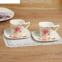 Набор чайный на 2 персоны вдохновение: блюдце 2шт, кружка 180мл-2шт, цвета