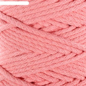 Шнур для вязания 100% хлопок, ширина 5 мм 100м/450гр (персиковый)  микс