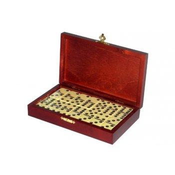 Rt-25.s домино турнирное d6 в деревянной шкатулке без флока