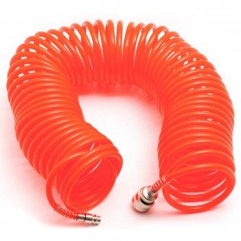 Шланг спиральный сервис ключ 70607, 15м, с быстросъемным соединением