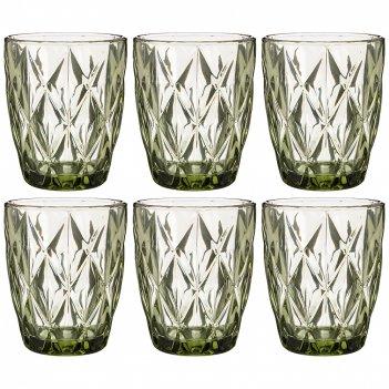 Набор стаканов ромбо из 6шт. серия muza color 240мл. / в=10 см (кор=6наб.)