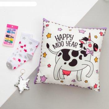 Набор подарочный beauty cow подушка-секрет 40х40 см аксессуары (3 шт)