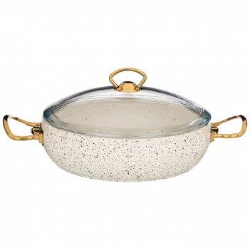 Сотейник agness с антипр. покрытием granite, серия mercury, 26*7 см, 3,2л,