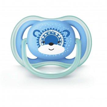 Пустышка силиконовая ортодонтическая ultra soft от 6 до 18 мес., для мальч