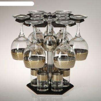 Мини-бар 18 предметов вино карусель скандинавия, темный