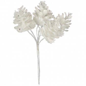 Изделие декоративное гроздь шишек длина=13 см (мал=12шт./кор=864шт.)