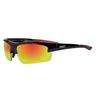 Солнцезащитные очки zippo спортивные, унисекс, чёрные, оправа из поликарбо
