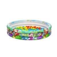 Бассейн надувной детский микки-маус с мячами (75шт) 122 х 25см, 167 л.,