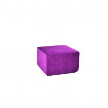 Пуф-модуль «тетрис», размер 50 x 50 см, фиолетовый, велюр