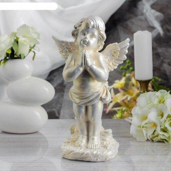 Статуэтка ангел молящийся №2 перламутровая