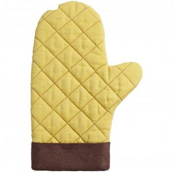 Прихватка-рукавица keep palms, цвет горчичный