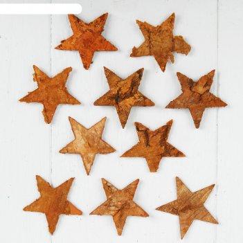 Декор из коры звёзды
