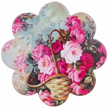Подставка под горячее цветы диаметр=11 см