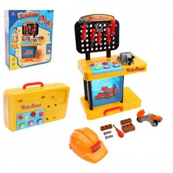 Игровой набор в чемодане маленький строитель высота 63 см: столик-мастерск