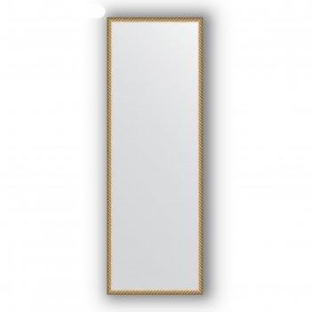 Зеркало в багетной раме - витая латунь 26 мм, 48 х 138 см, evoform