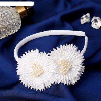 Ободок для волос милада 0,5 см, сердце лучики, белый