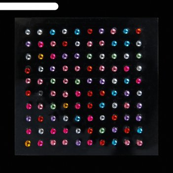 Стразы для декора, клеевые, 2 мм, цвет микс