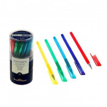 Ручка шариковая easywrite.rio стержень синий, узел 0.5мм, 5 цветов микс