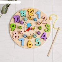 Развивающая игра «рыбалка-часы» 3,5x22,5x22,5 см