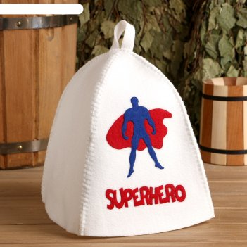 Шапка банная с аппликацией супергерой
