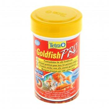 Корм для рыб tetra goldfish pro, 100 мл