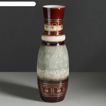 Ваза илона олимп, греция, декор, зелёный, 40 см