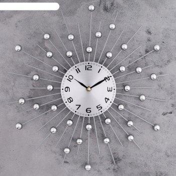Часы настенные, серия: ажур, зеркальные сферы d=40см