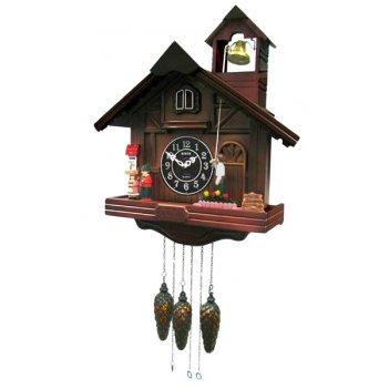 Настенные часы с кукушкой sinix 811brn