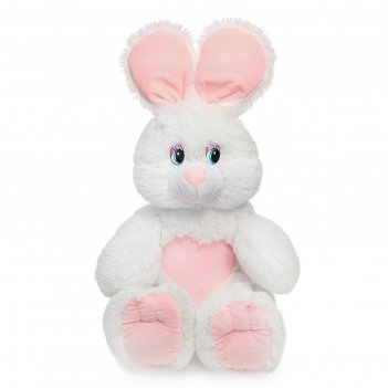 Мягкая игрушка заяц ляля цвет белый, 55 см зк-55б