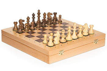 Шахматы стаунтон монарх ларец бук 40х40, фигуры самшит и палисандр 8,3см