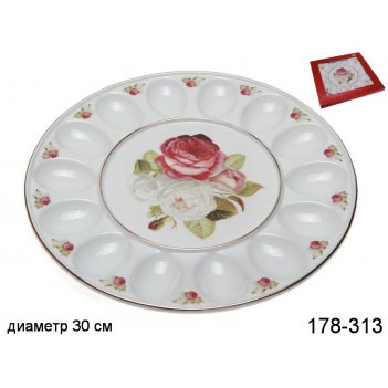 Тарелка для яиц букет роз  диаметр=30 см.высота=...код т