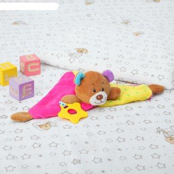 Игрушка для новорождённых, «медвежонок», разноцветные ушки, с грызунком