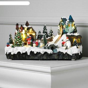 Фигура световая новогодняя сказка 20х33 см, 16 led, музыка, 3хаа, динамика