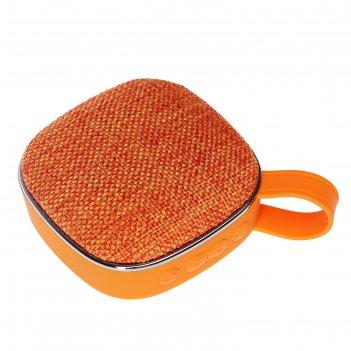 Портативная колонка luazon, fm, microsd, крепление, 5 вт, 600 мач, оранжев
